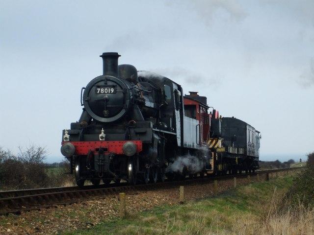 Class 2MT 78019 on a Demolition train