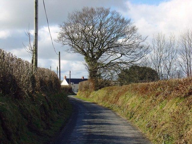 Lane near Penrhiw-crynfryn, Aber-nant
