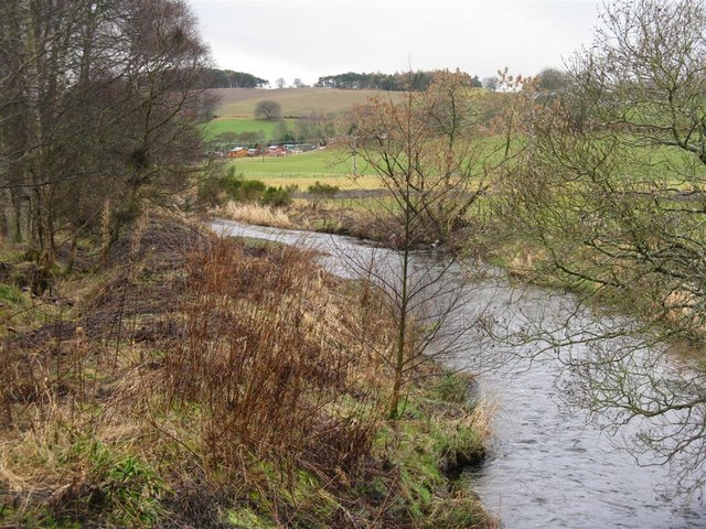 Looking down the Eddleston Water