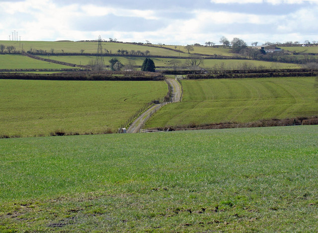Fields near Ffos-ddu, Aber-nant