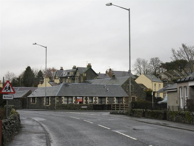 Eddleston Village - the A703