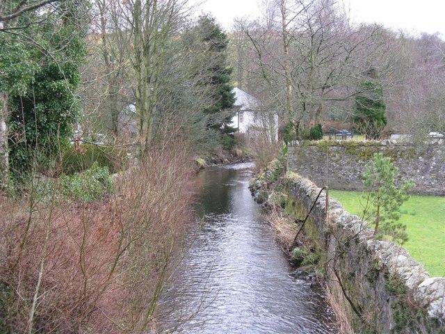 Eddleston Water, running through the village