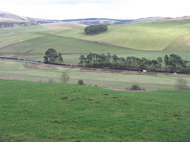 The A703 in the valley of the Eddleston Water