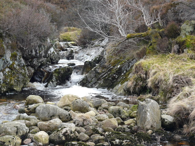 A tributary into Craggie Water