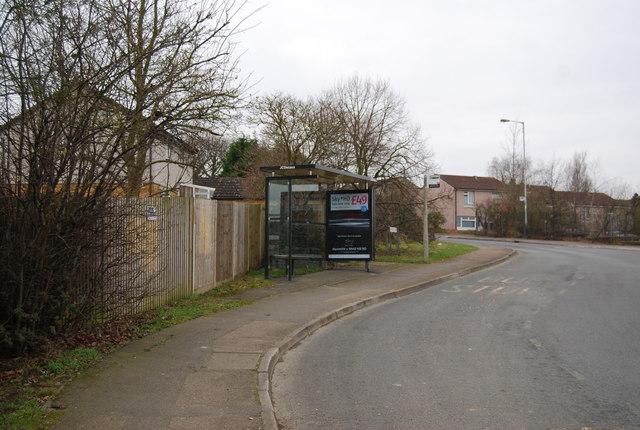 Bus Shelter & stop, Liptraps Lane