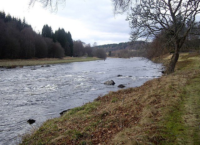 River Dee in front of Woodend House