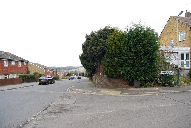 Birch Way, Liptraps Lane junction