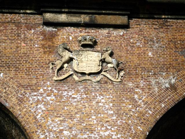 Lord Wharncliffe's Coat of Arms on the central pier of Wharncliffe Viaduct