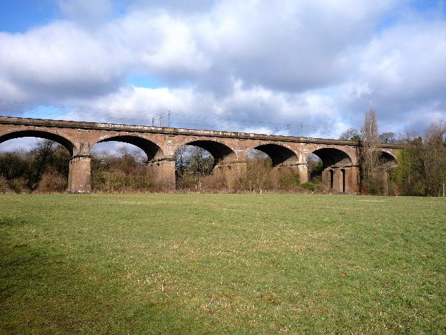 The Wharncliffe Viaduct from Brent Meadow