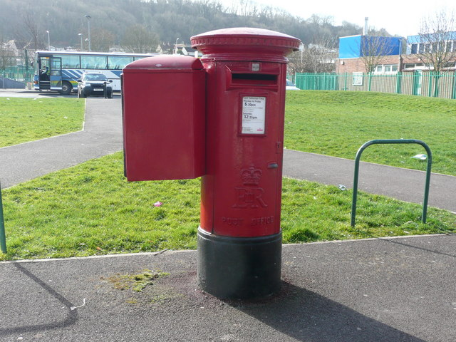 Postbox at Aller Parade, Oldmixon, Weston-super-Mare