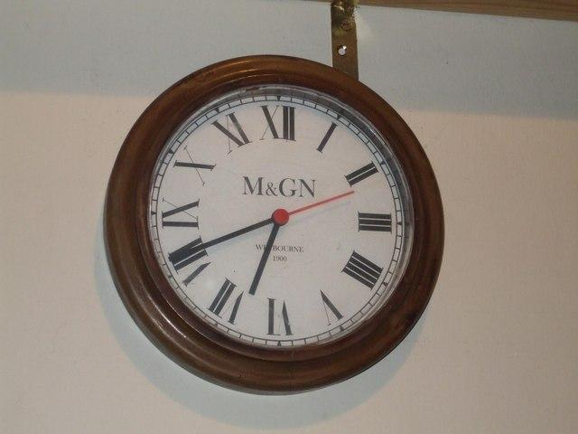 Weybourne station clock