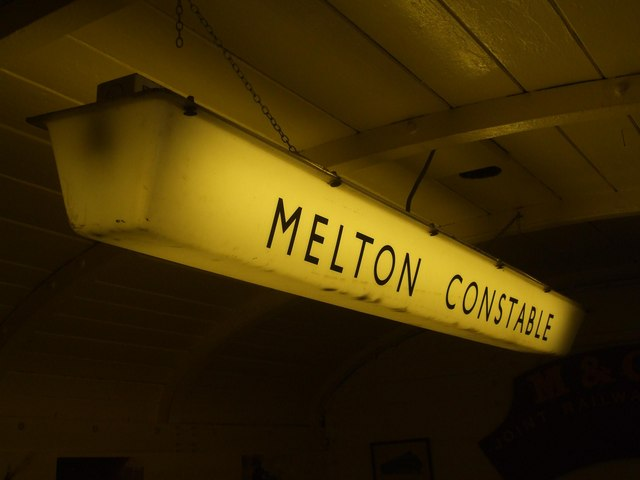 An old Melton Constable light