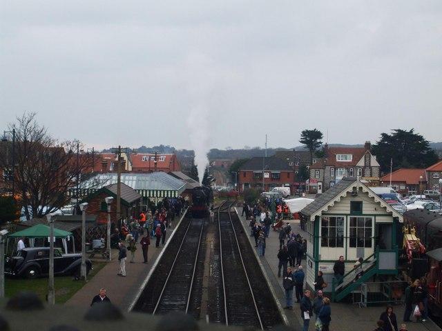 Sheringham station from the road bridge