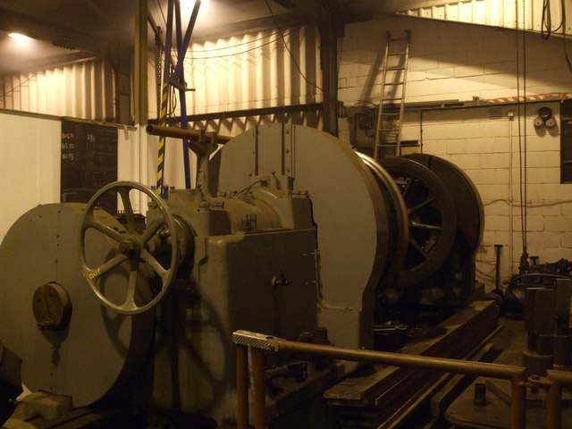 Wheel lathe at Weybourne sheds