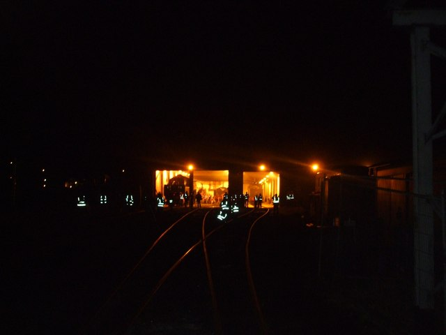 Weybourne sheds about 8.00pm