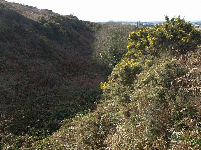 Quarry  below Carn Brea