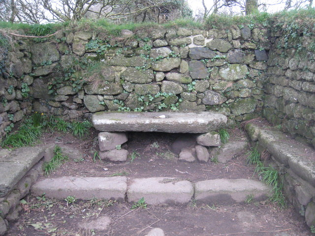 The altar stone in Madron Chapel
