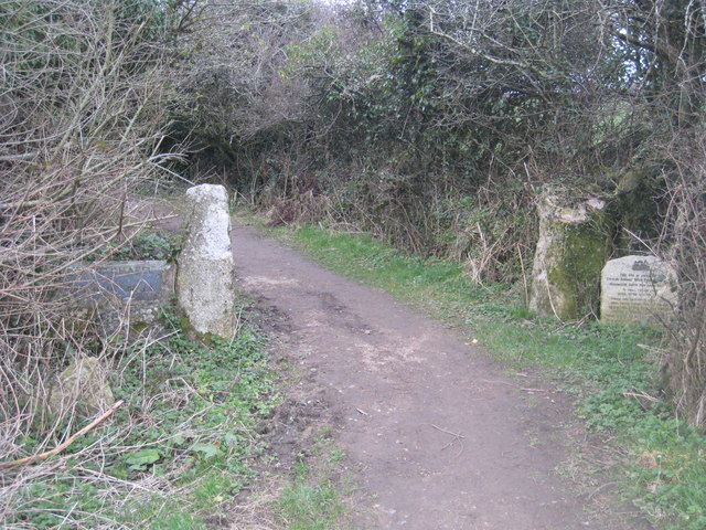 The footpath leading to Madron Well and Chapel
