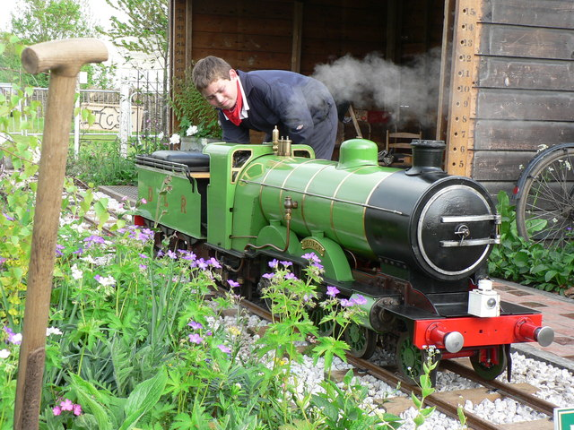 Steam enthusiast at the Malvern Spring Show 2008.