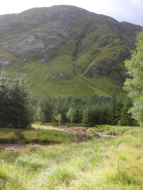 View up Carn na Nathrach from the Hurich glen