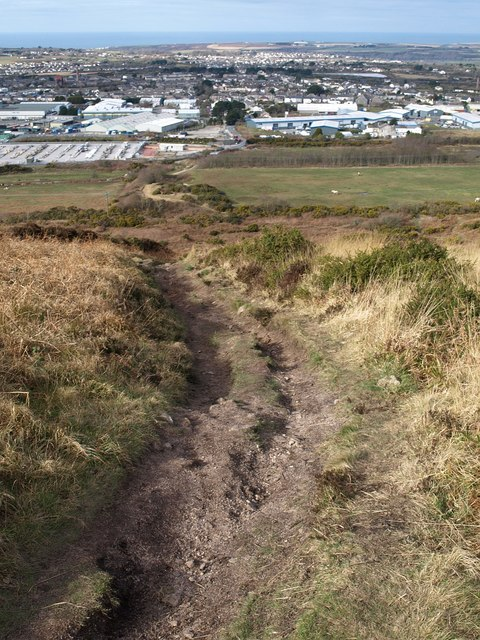 Path down Carn Brea