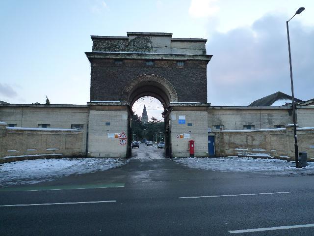 Entrance to St. Bernard's Hospital