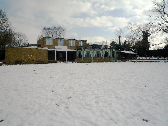 Brent Valley golf club (rear) - snow scene