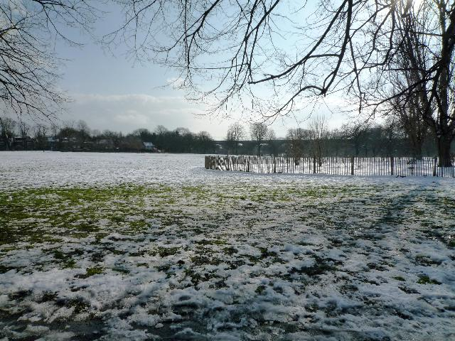 Churchfields Recreation Ground (snow scene)