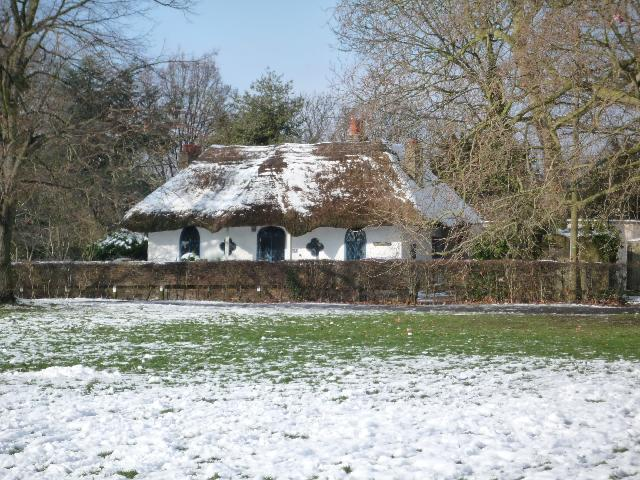 The Hermitage, Church Road, Hanwell (snow scene)
