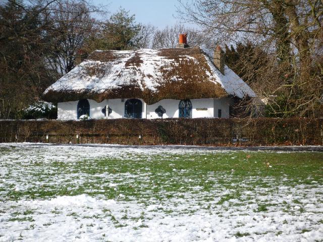 The Hermitage, Church Road, Hanwell (snow scene)