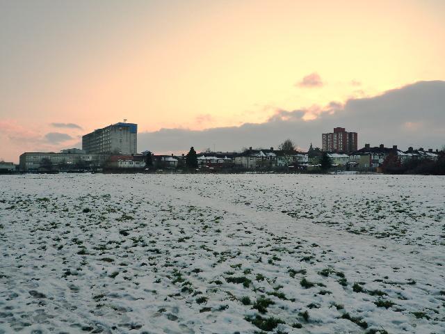 Brent Meadow (snow scene)