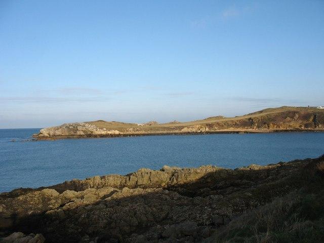 View across Porth Padrig bay to Llanbadrig Point