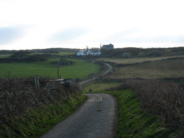 The road south from Llanbadrig Church