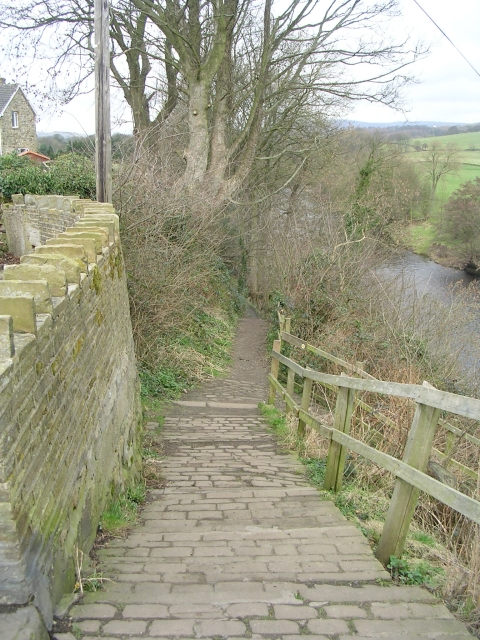 Dalesway - by the side of the River Wharfe - Bark Lane