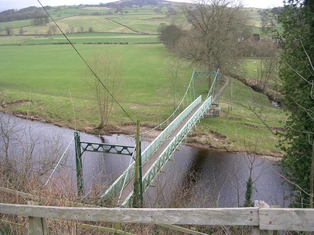 Footbridge over the River Wharfe - Bark Lane