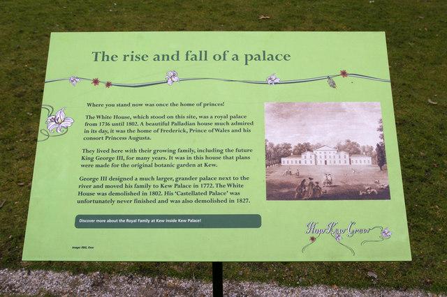 Plaque at Kew Gardens, Surrey