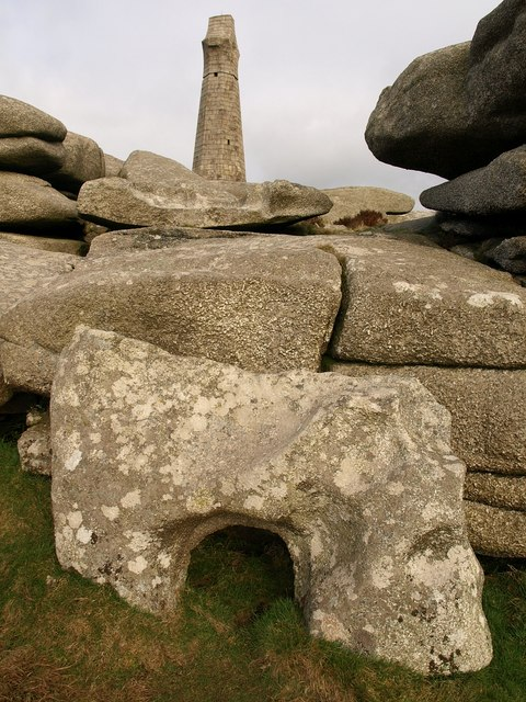 Rocks and monument, Carn Brea