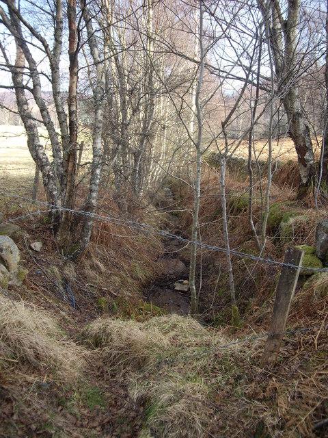 Downstream drain off Craiglash Hill