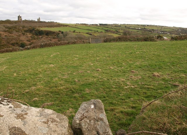 Field above Carn Brea village