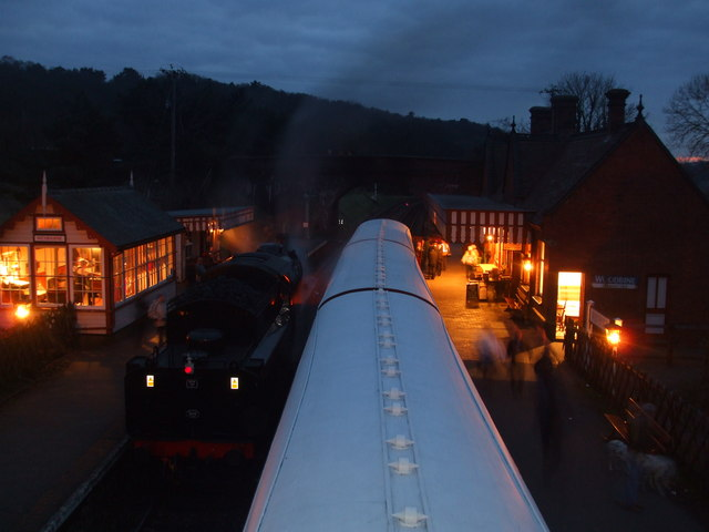Weybourne station in the evening