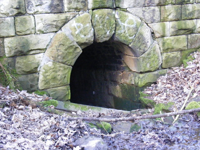 Entrance to tunnel under course of  old railway