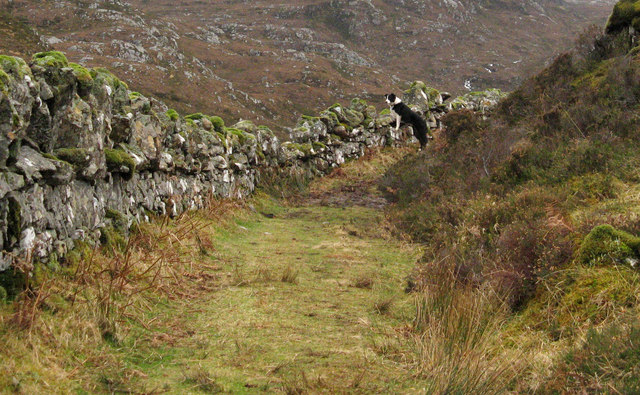 Path from Little Assynt to Glen Canisp via Suileag