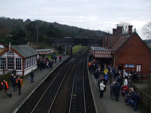 Weybourne station on gala day