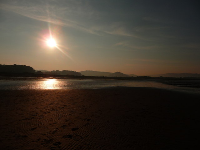 Blue Anchor : Sunset at the Beach