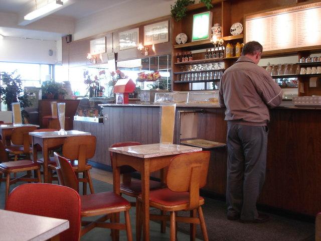 Morecambe - Brucciani's cafe interior