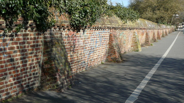 Wall in Church Lane, Beddington