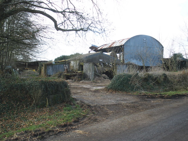 Dilapidated farm buildings