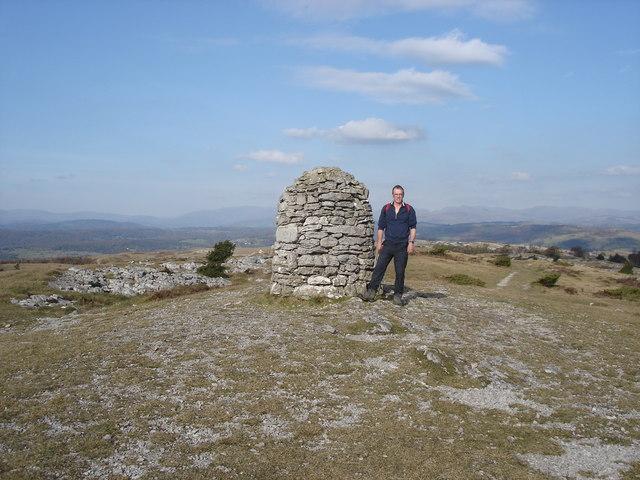 Whitbarrow Scar - summit cairn