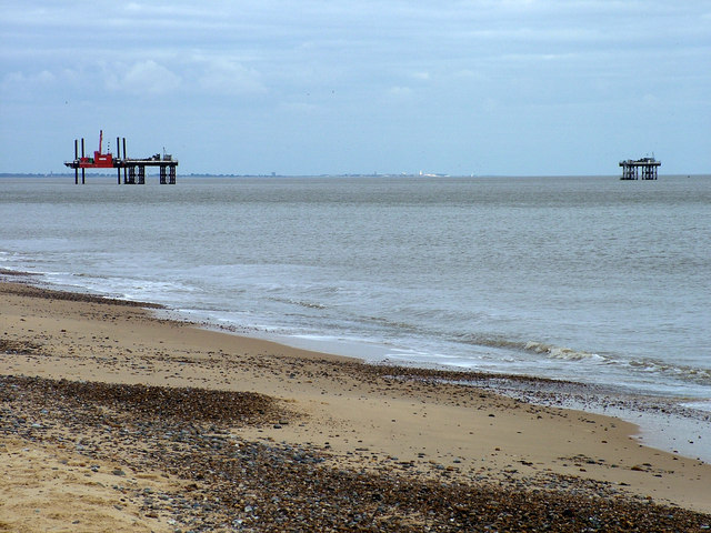 Southwold visible between the Sizewell towers