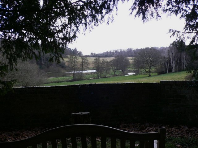 Lake view from corner of Woolbeding churchyard
